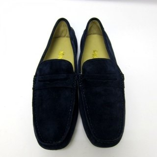 Fort Tony Wang handmade leather shoes (M) [matte / rubber-soled / blue]
