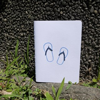 [A person from stray policy - flip drag (blue). Hand notebook]