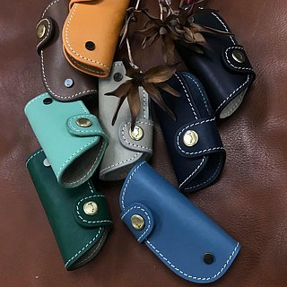 Leather car key cases