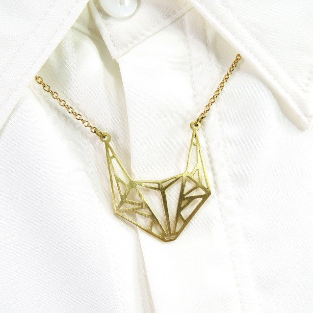 Fox geometric necklace