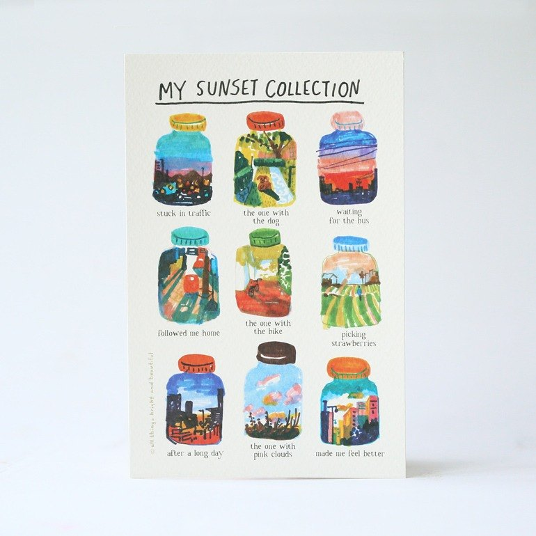 Sunset Collection Postcard