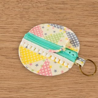 [Miya ko. Grocery cloth hand-made] Fun / headphone bag / purse / key ring / Wallets