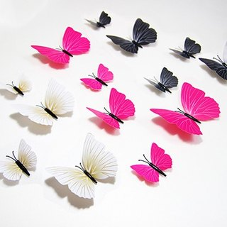 HomePlus 3D Magnetic Butterfly 12pcs Wall Stickers Decoration