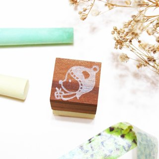 [Stock goods] handmade rubber stamp - living imprint (O)