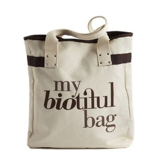 法國my biotiful bag有機棉Tote Bag-Brown
