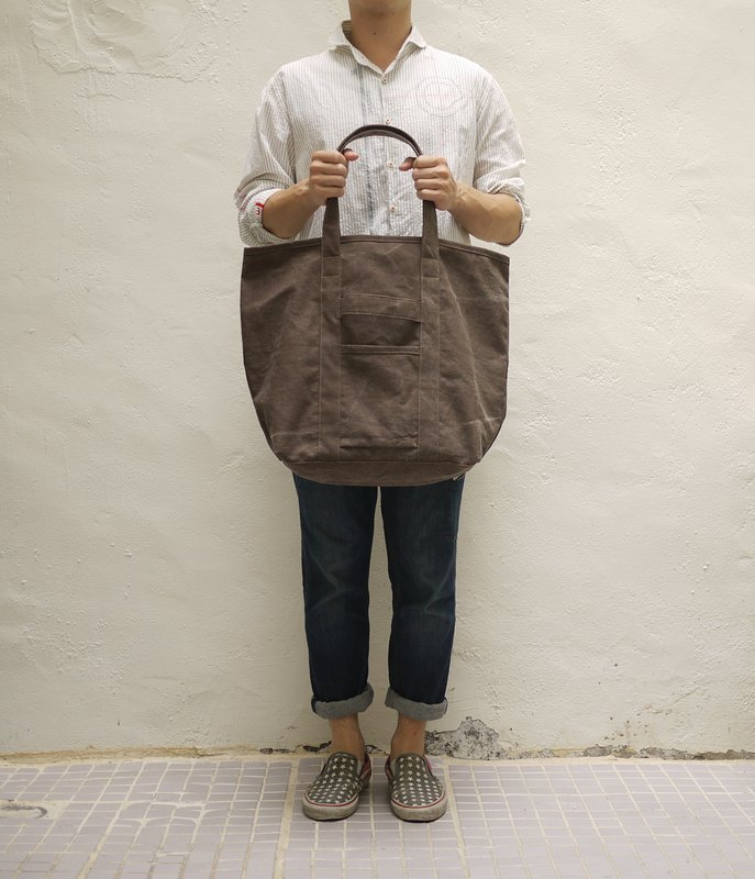 Orly 2 Ways Tote Bag L — Stone Washed Canvas