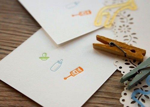 【網店限定】三寶 - 迷你活版印刷卡