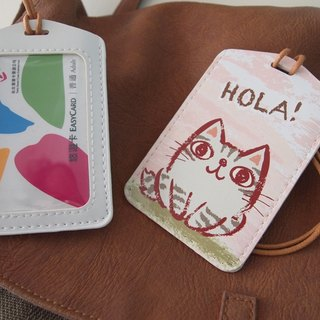 Multi-function card holder key ring - Hola! Little gray cat