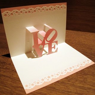 Valentine's Day gift - three-dimensional paper sculptures Valentine card -LOVE