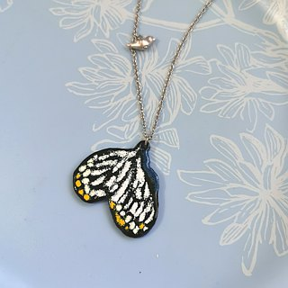 Black enamel butterfly (stainless steel chains)