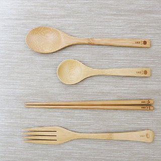 Choose 3 out of 4 bamboo-made tableware