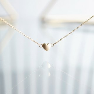 【14KGF】Necklace,Mat Gold Tiny Heart