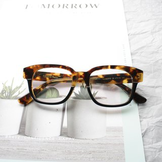 Rectangle Yellow Tortoise eyeglasses 7 barrel hinge Handmade in Japan eyewear