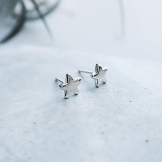 925 Silver Wishing Star Earrings-Sold as a Pair