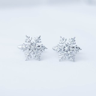 Sparkling snow cufflinks