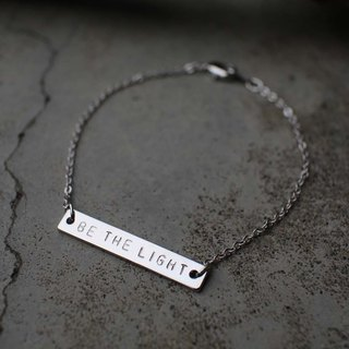 [Customized] :: Valentine's Day / birthday gift :: Europe and the United simple lettering charm bracelet (silver), hand lettering, print, initials, unique Valentine's Day gift, birthday gift, Mother's Day gift