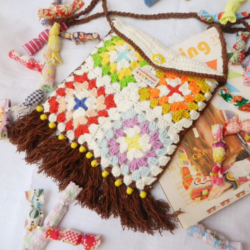 ◇ rita Original Series ◇ · crocheted crochet grandmother light box Clover national wind seasons Messenger Bag