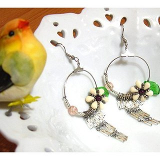 Great circle mosaic earrings