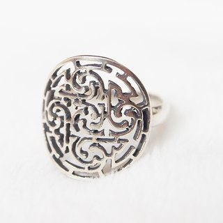 [Xi Bo Mi silver doll] neutral series - five elements ring, a mysterious pattern which contains gold and wood fire and fire soil, 925 silver recommended