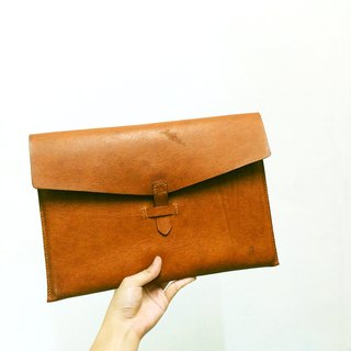 Deerskin warm color computer bag / folder