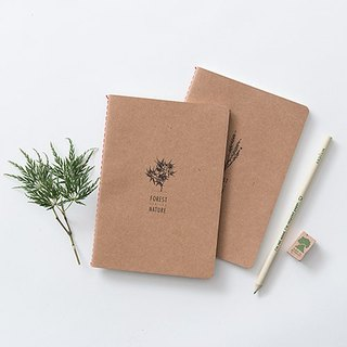 ARDIUM kraft paper notebook group Forest (small)