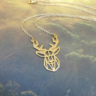 Deer, Geometric, Animal Necklace, Deer Lover, Animal Lover gifts, Gift for her