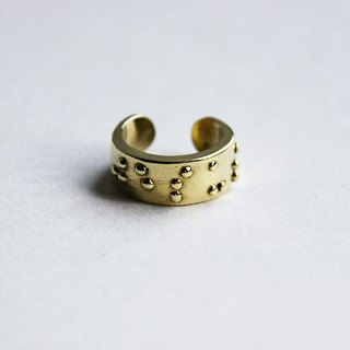 Braille Ring - Jesus Written - Unique Design Statement Ring Jewelry