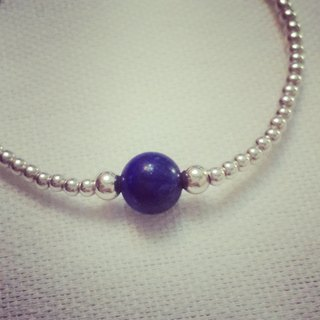MH sterling silver birth stone series _ September birth stone _ lapis lazuli