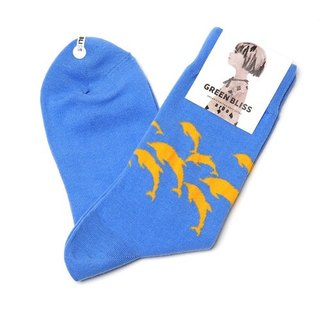 GREEN BLISS organic cotton socks - [joint series] ardo Dolphins dolphins in stockings (male / female)