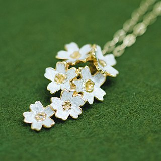 Sakura necklace - Cherry blossom pendant head chain set - Japanese blossom