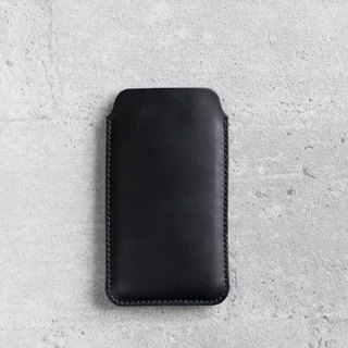 iPhone 8 / 7 PLUS natural genuine leather sleeve pouch case