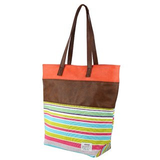 AMINAH-coffee whimsical tote bag [am-0268]