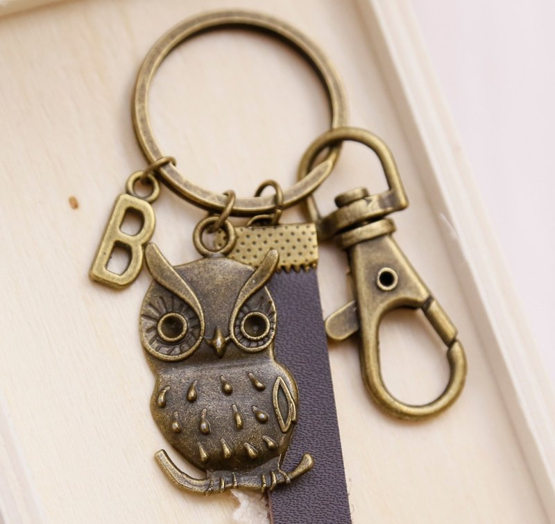 Hand made owl / key ring / charm.