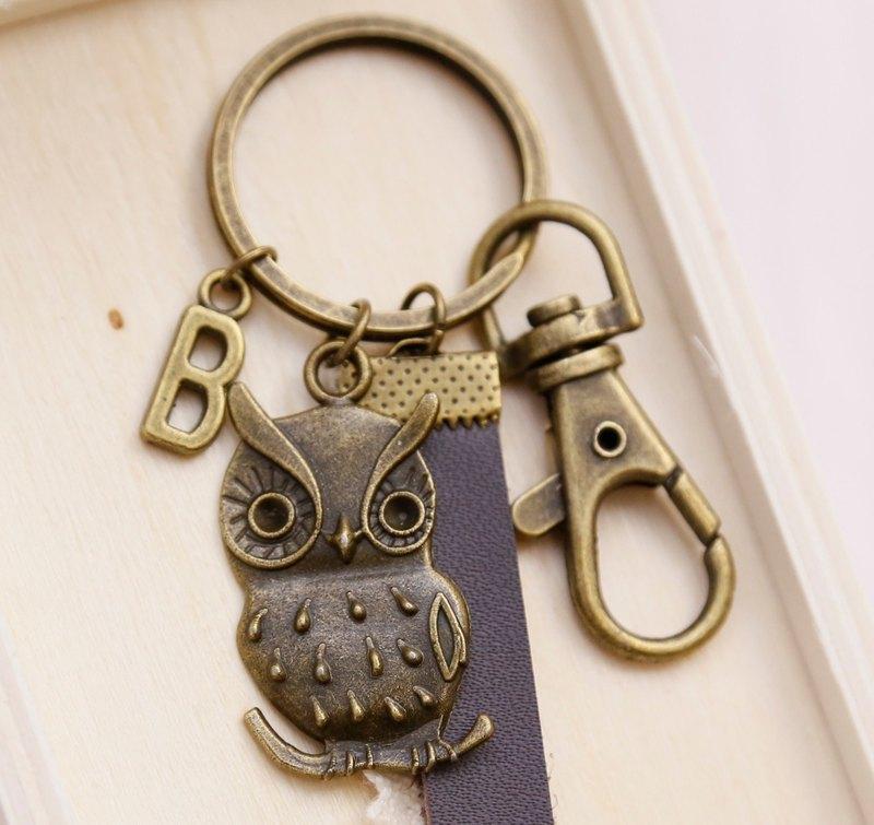手作貓頭鷹 /鑰匙圈/ 吊飾。