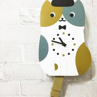 hime's cats swing tail wall clock (only three cat section)