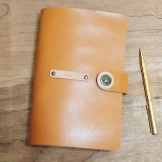 7-inch leather notepad - milk candy (custom printing standard)