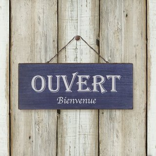 Retro Blue Flag -OUVERT-