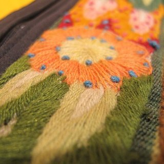 Alpaca weaving hand-embroidered stitching rectangular packages - yellow flower