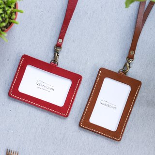 Shekinah Handmade Leather - Classic Identification Card with Leather Thick Neck Rope