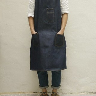 Denim Packet Full Length Apron