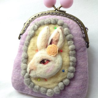 Rabbit wool felt mouth gold package
