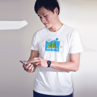 buyMood Smartphone Village Farming Game Round-Neck T-Shirt