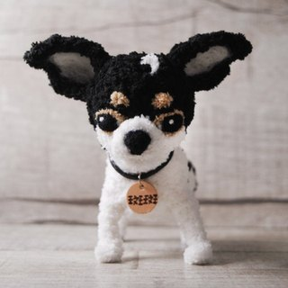 Pets avatar 13 ~ 15cm [feiwa Fei handmade doll] shorthaired Chihuahua pet doll (Welcome to order your dog)