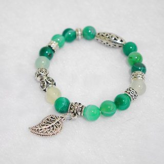 S & amp; A green beaded bracelet color of hope