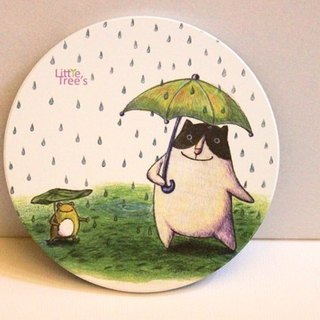 Ceramic absorbent coasters - like rainy days