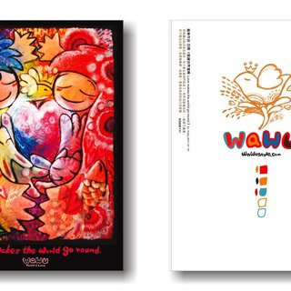 WaWu lover Kuka / painted / homemade postcards / limited manual card