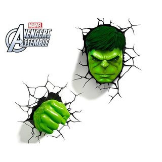 3D Light FX - Marvel Series Hulk Set - 3D立體造型燈 浩克 組合
