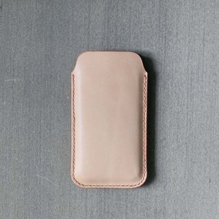 iPhone nude genuine leather sleeve pouch case