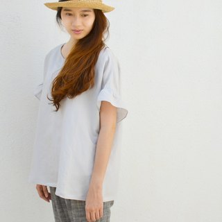 [HIKIDASHI] Wow Edge Tee off shoulder blouse