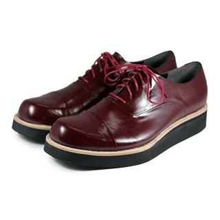 Wine Cup M1127 Burgundy leather sneakers